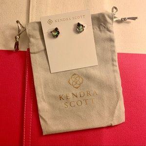 Kendra Scott Tessa Silver Studs in Abalone Shell